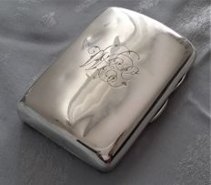 Victorian sterling silver cigarette case - London - 1895