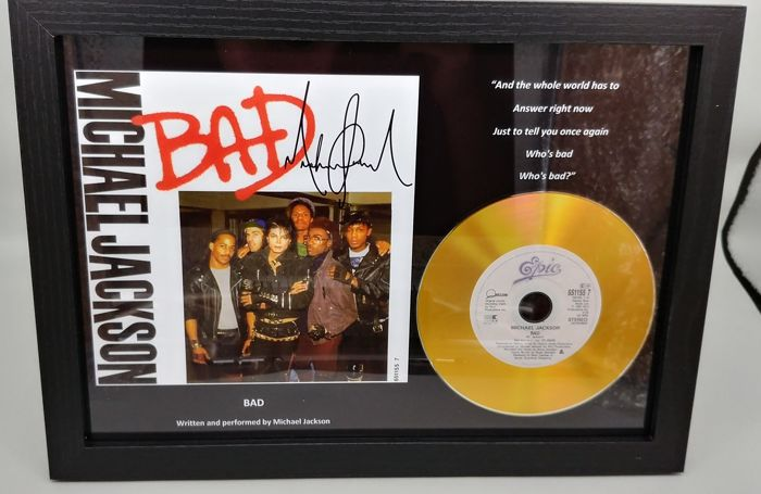 Michael Jackson Bad Gold Presentation Disc