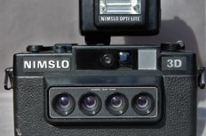 Nimslo 3D stereo camera with 4 lenses with built-in cds metering