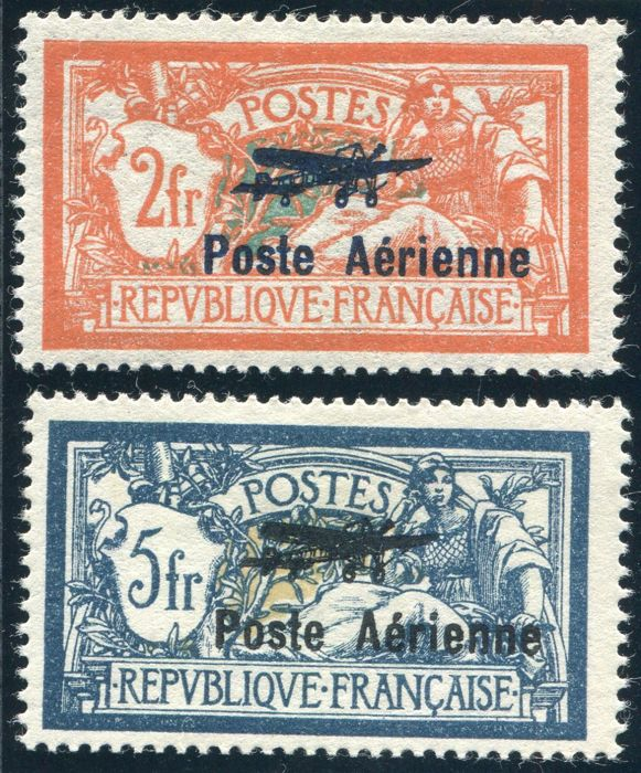 France 1927 - Airmail - Yvert no.: 1, 2.