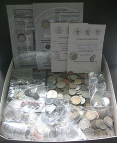 World - Lot (± 5 kg, and 1500 coins) - including silver
