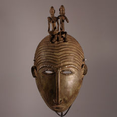 DOGON  Bronze Mask Made Using the Lost Wax Casting Method, A Unique Piece from Mali