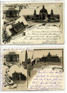 Antwerp Litho cards period:1894-1902; 33 x