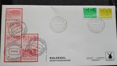 The Netherlands - Collection of 199 W-envelopes Zaanstad, airmail and others.