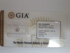 0.57ct  Round Brilliant D IF GIA - Low Reserve Price - #WD2166