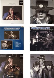 "Stevie Ray Vaughan ""Live"" Vinyl Lot  -  All Radio Shows In Crystal Clear Quality On 180 Grams Vinyl  -  Still Sealed !!"