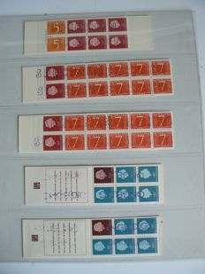 The Netherlands 1964/1971 - Selection of stamp booklets with stamp 'Specimen' or 'Invalid'