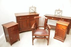 Various pieces of teak furniture, Netherlands, first half 20th century