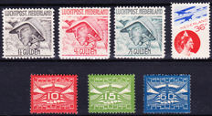 The Netherlands 1921/1931 - selection of airmail - NVPH LP1/3, LP6/8 and LP9