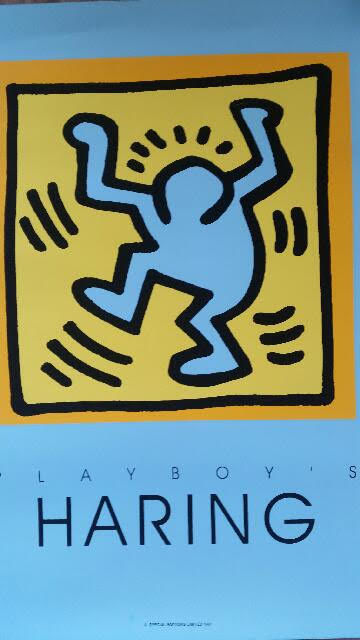 Keith Haring - Playboy blue edition