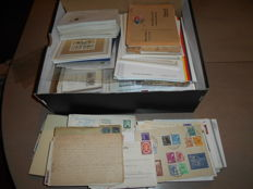 Germany – box full of letters and cards, approx. 1,200 pcs – lots of old material