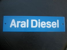 Aral Diesel - enamelled petrol pump sign - 1960