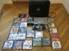 Playstation 1 including 3 controllers , memory card , bag and 20 Games like FF7