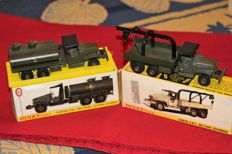 Dinky Toys-France - Scale 1/48 - Lot of GMC Military truck Fuel Tanker No.823 and Military breakdown truck GMC No.808