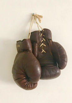 Boxing - Leather boxing gloves - vintage
