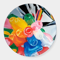 Jeff Koons - Tulips Signed Limoges Porcelain Coupe Plate