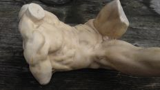Male torso - nude sculpture. Signed.