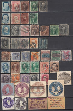 United States of America 1847/1869 - Lot of stamps, Taxes, Services.