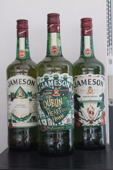 3 bottles - Jameson Limited editions, OB, St. Patrick's day 2015, 2016, 2017