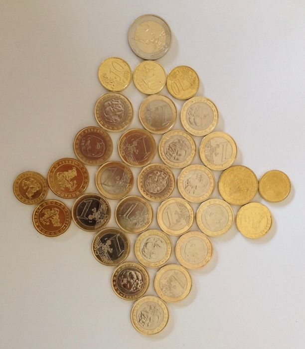 Monaco - lot of Euro coins from 2001/2002/2003