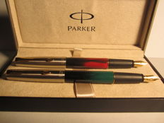 Set of Parker Frontier vintage fountain pens