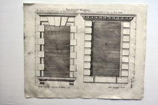6 architectural prints by Batty Langley (1696 - 1751) - The City and Country Builder's and Workman's Treasury of Designs, 1777
