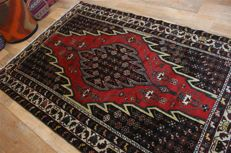 Hand-knotted original Persian carpet, oriental Maslaghan, approx. 191 x 130 cm, good condition, Iran, antique