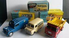 Corgi Toys - Scale 1/43 - Lot of 3 utility cars: No.412, 416 and 458