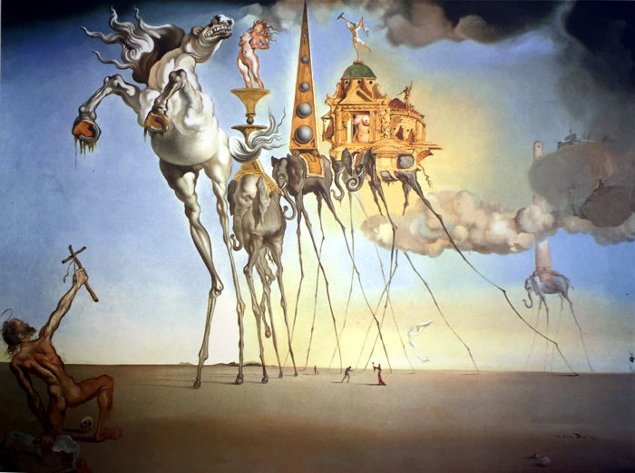 Salvador Dalí (after) - The temptation of Saint Anthony