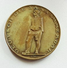 Plebiscite in the Saarland medal bronze