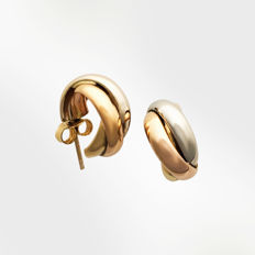18 kt, 4.6 grams, Gold, bi-colour earrings - 15 mm