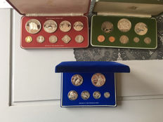 Bahamas, British Virgin Islands and Trinidad - years 1976, 1977 and 1978 (total of 3 pieces)