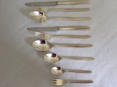 Cutlery pieces silver plated, Gero Perle Royale 250.1969