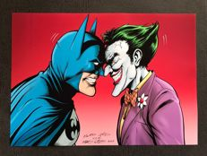 DC Comics – Batman Vs Joker - Signed Lithograph By Martin Griffiths