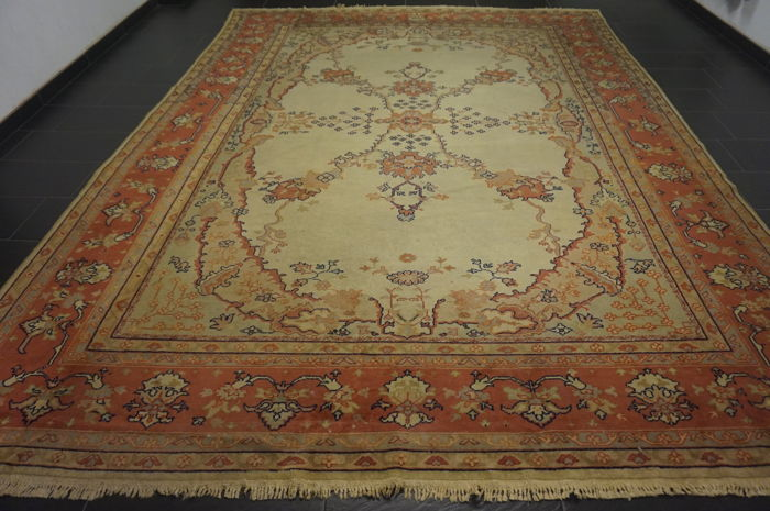 -Old Oriental carpet Anatolia Old Carpet Uschak Ziegler pattern –  -Made in Turkey-  -300X400cm-  -wool on wool-