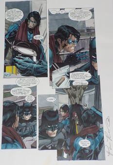 Pamela Rambo - Original Colourisation / Color Guide - Batman Gotham Knights #1 Page 18 - (2000)