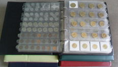World - Batch of various coins (approx. 1250 pieces) in 5 albums