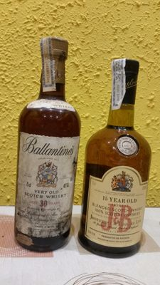 2 bottles -  J&B 15 years and Ballantines 30 years