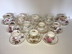 Elizabethan fine bone china - England - 12 PCs luxury Cup & dishes