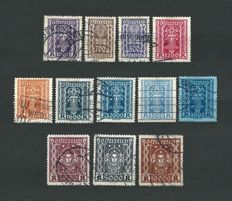 Austria, 1923-1937 – Selection of 12 series – Mi:AT 389/657