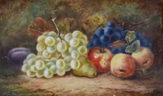C.R or R.C. (20th century) A pair of still life of fruits.