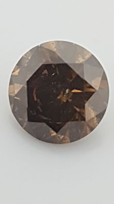 1.22 ct - Round Brilliant - Brown - SI2 - No minimum price