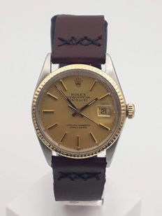 Rolex - oyster perpetual datejust gold&SS - 16000 - Men - 1980-1989