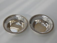 Two silver open work baskets, E.L. Vitor, Germany, ca 1920