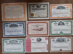 9 shares of classic USA car manufacturers (Lincoln, Four Wheel Drive, Kaiser Fraser, ACF Brill, GM, Packard Studebaker).