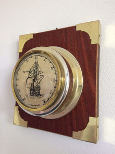 Thermostar Brass Thermometer on Wooden Board