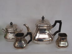 Four piece silver Art Deco tea set, Gerritsen & Van Kempen, Netherlands, Zeist, 1931