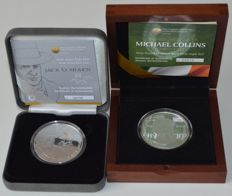 Ireland - 10 Euro 2012 Jack B. Yeats & Michael Collins 1890–1922 (2 different coins) - silver