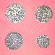France - Philippe IV Le Bel (1285-1314) - Lot de 4 monnaies