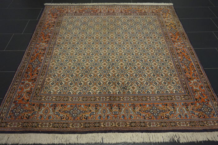 perser teppich moud mut ghom muster made in iran 190x200cm catawiki. Black Bedroom Furniture Sets. Home Design Ideas